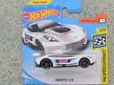 Hot Wheels 2018 #027/365 CORVETTE C7.R blanc HW vitesse graphiques