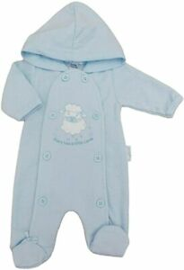 BNWT Tiny Premature Preemie Baby boys blue hooded all in one  3-5lb & 5-8lb