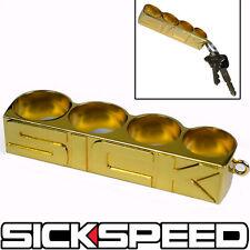 24K GOLD SICK FOUR (4) FINGER RING KEY RING KEY CHAIN LANYARD KEYCHAIN P2