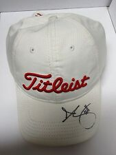 ADAM SCOTT HAND SIGNED TITLIEST WHITE GOLF CAP + PHOTO PROOF C.O.A