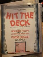 Vintage Sheet Music 1927 Hit the Deck Herbert Fields Vincent Youmans Leo Robin