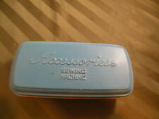 Vintage Sewing Machine Attachments Accessories & Metal Tin Holder Box