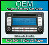 VW RCD 500 6 Disc CD player changer, Golf Plus car stereo head unit with code