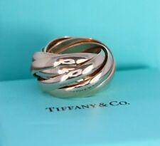 $5,500 Tiffany & Co Paloma Picasso Melody 18K Rose Gold Interlocking Ring Band 7