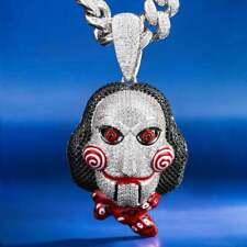 Multicolored Stones 69 Jigsaw Killer Men's Pendants In 925 Silver With Gemstones