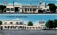 KIT CARSON COLORADO KNUDTSON TEXACO GAS STATION & MOTEL