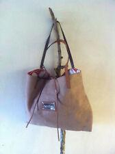 05e52693c3 ENTRA' Borsa Shopper Tote Bag donna in juta Fodera Cotone Anni 60 Manici  Cuoio