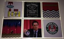 TWIN PEAKS 6 x Drinks COASTERS Tea COFFEE Beer MATS (TV/DVD Series/Season 1 2 3)