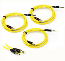 3X 4FT 3.5MM AUX M/M AUDIO CABLE YELLOW FOR LG OPTIMUS G2 L9 HTC DESIRE MOTO X G
