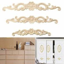 Wood Carved Decal Appliques Frame Wooden Figurines Wall Doors Decoration