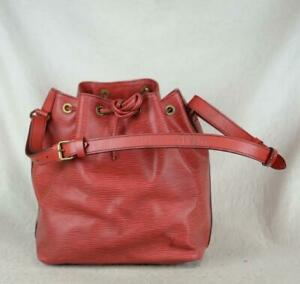 Authentic LOUIS VUITTON Petit Noe EPI purse shoulder bag Ref.1