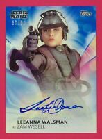 2020 Women of Star Wars Leeanna Walsman as Zam Wesell 37/50 Autographs Blue ALW