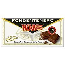 Toilette Novi Fondant Chocolat Extra Noir Amer 100 Gr 72% Cacao Noble