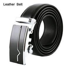 Cintura fibbia automatica in pelle da uomo cinturino vita