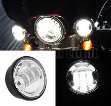 """NEW 4 1/2"""" 4.5"""" INCH LED Auxiliary Spot Fog light For Harley Davidson Motorcycle"""