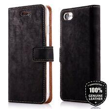 SURAZO Premium Vera Pelle Flip Portafoglio Custodia Cover per iPhone 6 6S Nero