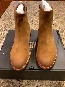Frye Sawyer Zipper Chelsea Boots, Suede, Size 9.0 US Men's New Unused.