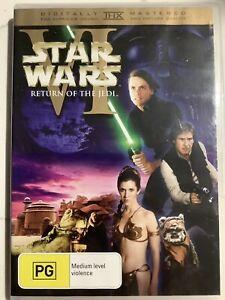 STAR WARS RETURN OF THE JEDI - DVD Region 4 - Harrison Ford VERY GOOD CONDITION