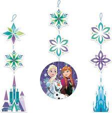 3pk Frozen Snowflakes Hanging Decorations Disney Birthday Party Decorations
