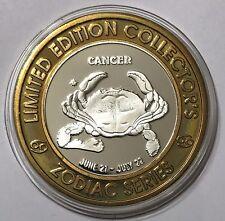 """SHERATON CASINO  $10 """"CANCER"""" TOKEN LIMITED EDITION .999 FINE SILVER UNCIRCUL"""
