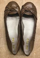 NWOB ME TOO LAWTON Women's Comfort Ballet Flats  Brown Leather Size 8.5 MEDIUM
