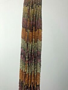 """""""AAA"""" Genuine Tundra Sapphire Faceted Rondelle Beads 3mm 14 Inches AMAZING PRICE"""