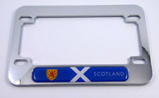 Scotland Scottish flag Motorcycle Bike ABS Chrome Plated License Plate Frame