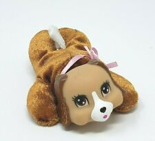 """4"""" PUPPY SURPRISE BABY BROWN & WHITE REPLACEMENT DOG STUFFED ANIMAL PLUSH TOY"""
