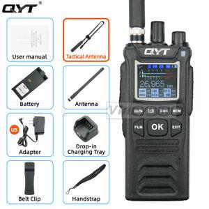 QYT CB-58 Walkie Talkie 27MHz AM/FM CB Ham Radio Transceiver Tactical antenna