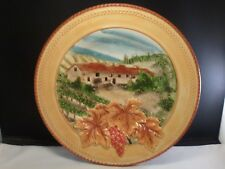 "Fitz & Floyd Del Vino 12"" Decorative Round Platter Plate or Wall Hanging"