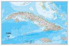 Cuba Map Poster 24in x36in