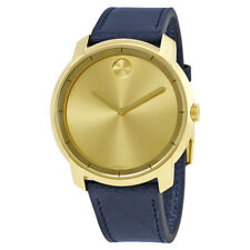 Movado Bold Yellow Gold Sunray Dial Mens Watch 3600469
