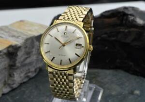Vintage 1960s Omega De Ville Automatic Date Ref# 166.033 Original Omega Bracelet