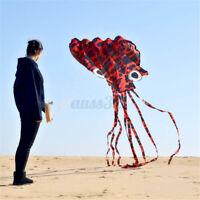 Large Kite Octopus Frameless Soft Parafoil Kites For Kids & Adults Easy  K