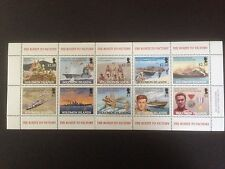 Solomon Islands 2005 Expo WWII Route to Victory Mini Sheet SG 1114-1123 MNH