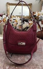 Coach Kristin Red Leather Convertible Hobo Cross-body Bag F19314 EUC! MSRP $400