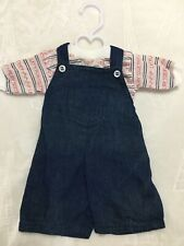 Vintage Made For Cabbage Patch Kids Clothes Doll Cpk Outfit Set Overalls