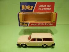 DINKY TOYS 122 VOLVO 265 DL ESTATE - CREAM - GOOD CONDITION IN BOX