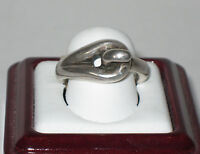 "New Uno de 50 Hilvanando ""Threading"" Silver Plated Alloy Ring Size M, 6"