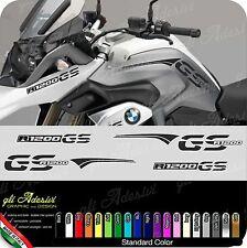 Kit Adesivi Fianco Serbatoio Moto BMW R 1200 gs LC fasce e becco monocolore