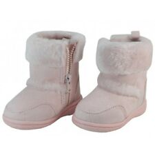 Toddler Baby Winter Boots Faux Fur Lining Side Zipper Suede Fabric Infants Shoes