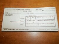Vintage M-K-T Katy Railroad Scale Ticket (20 pieces) (unused)