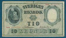 SUÈDE - 10 KRONOR Pick n° 40e. de 1944. en TB   21733781