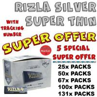 Rizla Silver Smoking Rolling Papers Super Thin RegularSize-5 SPECIAL SUPER OFFER