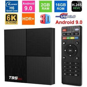 T95 Mini 2+16GB Android 9.0 H6 6K Smart TV BOX 3D WIFI TV Media Player AUS STOCK