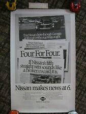 NISSAN GTP IMSA Motor Racing Poster & Stickers - Geoff Brabham