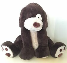 "Hugfun Plush Puppy Dog Giant 53"" Clean Dark Brown Life Size Very Large"