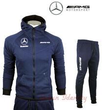 Survêtement bleu jogging training 100 % coton logo Mercedes AMG top qualité