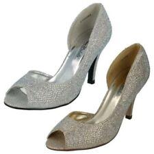 Zapatos de tacón de mujer de color principal oro sintético talla 40