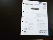 Original Service Manual Schaltplan  Sony MDS-302
